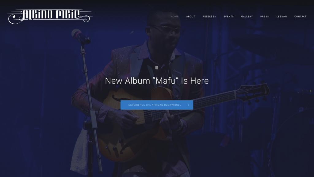 Albino Mbie Website